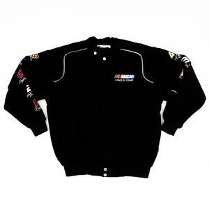 Chase Authentics NASCAR Jacket Button Closure Sz L